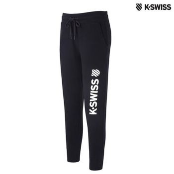 K-Swiss Slim Fit Sweatpant運動長褲-女-黑