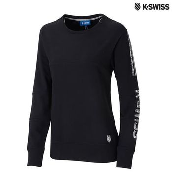 K-Swiss Sweatshirt圓領長袖上衣-女-黑