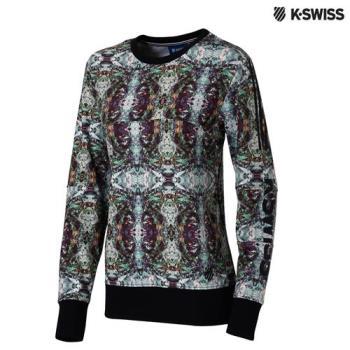 K-Swiss Sweatshirt圓領長袖上衣-女-印花
