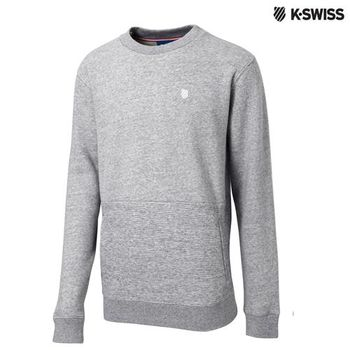 K-Swiss Sweatshirt長袖上衣-男-炭灰