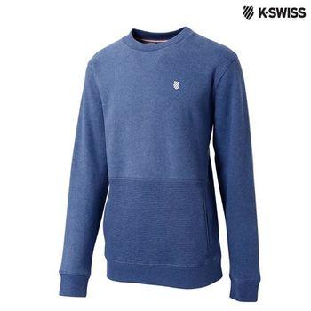 K-Swiss Sweatshirt長袖上衣-男-單寧藍