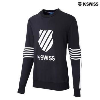 K-Swiss Pullover長袖上衣-男-黑