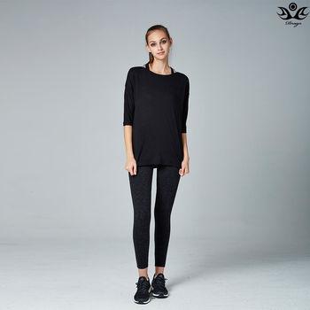 【Drago】透氣導汗多功能運動瑜珈外搭罩衫/上衣-黑色