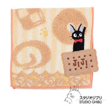 吉卜力 魔女宅急便口袋小方巾/收納包(條紋餅乾黃)