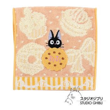 吉卜力 魔女宅急便口袋小方巾/收納包(橘黃甜點)