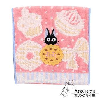 吉卜力 魔女宅急便口袋小方巾/收納包(粉紫甜點)
