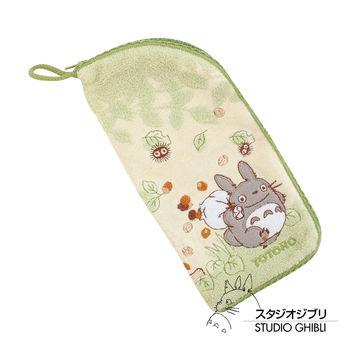 吉卜力 Totoro龍貓多功能拉鍊毛巾袋(綠野薄荷)
