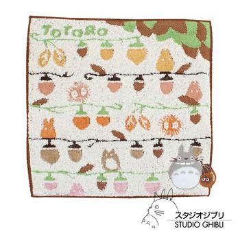 吉卜力 Totoro龍貓純棉小方巾/手帕(栗栗果果)