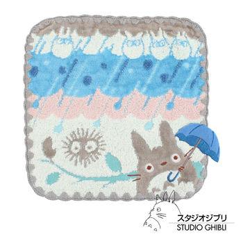 吉卜力 Totoro龍貓純棉小方巾/手帕(灰濛陣雨)