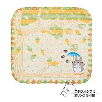 吉卜力 Totoro龍貓純棉小方巾/手帕(金黃雨林)