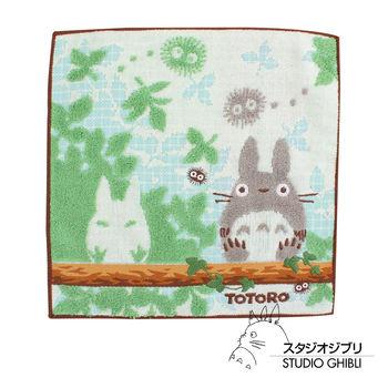 吉卜力 Totoro龍貓純棉小方巾/手帕(棕木森林)