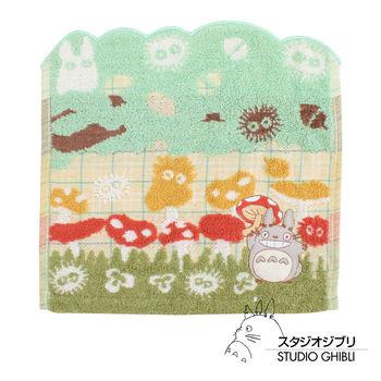 吉卜力 Totoro龍貓純棉小方巾/手帕(蘑菇樂園)