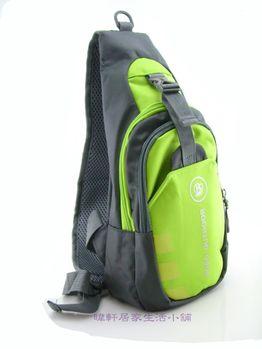 [輕鬆購] BOBO百搭造型單肩胸包-綠色