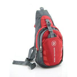 [輕鬆購] BOBO百搭造型單肩胸包-紅色