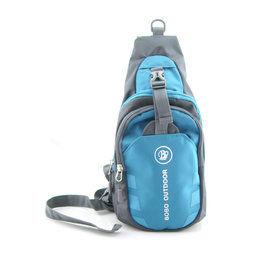 [輕鬆購] BOBO百搭造型單肩胸包-藍色