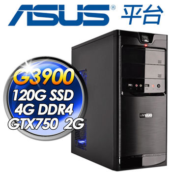 |華碩平台|黑暗原力 G3900-2.8G 華碩H110M-E 120GSSD 4G DDR4 400W大供電 GTX750TI-PH-2GD5 超值2G獨顯桌上型電腦