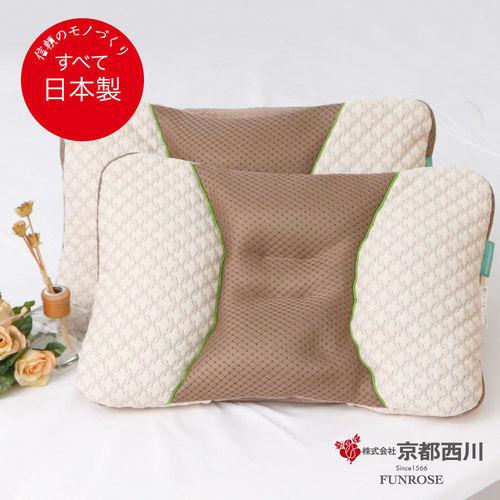 【京都西川】日本製 綠茶抗菌調節枕/機能枕/枕芯枕頭-37x55cm(1入)