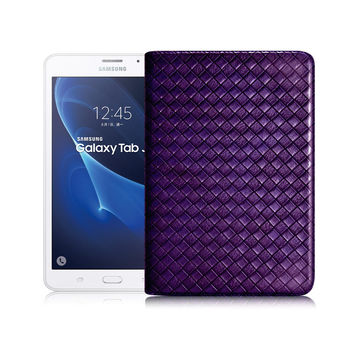 X_mart Samsung Galaxy Tab J 7.0 T285 魔幻編織立架側扣皮套 好運紫限量發售