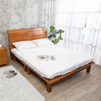 Bernice-貝維亞實木6尺雙人床(不含床墊)