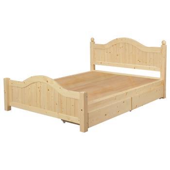 Bernice-羅斯5尺抽屜雙人床(不含床墊)
