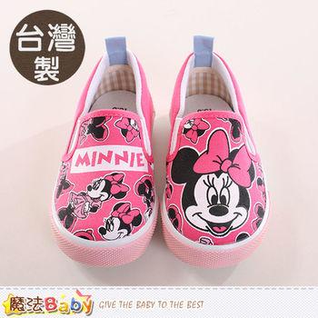 魔法Baby 童鞋 台灣製迪士尼米妮正版兒童帆布鞋~sh9963