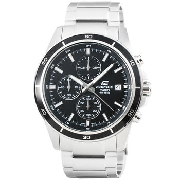CASIO 卡西歐EDIFICE 三環計時運動錶-黑 / EFR-526D-1A (台灣公司貨)