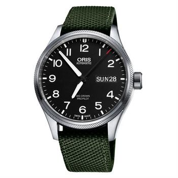 ORIS Big Crown ProPilot 日曆機械腕錶-黑x墨綠/45mm 0175276984164-0752214FC