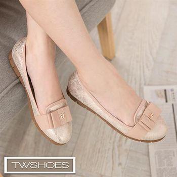 【TOMO】低調奢華朵結緞帶娃娃鞋【K160A3256】
