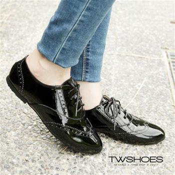 【TW Shoes】漆皮尖頭綁帶牛津鞋【K130B2673】
