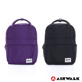 【美國 AIRWALK】絕色生活 全彩尼龍筆電後背包 - 共二色
