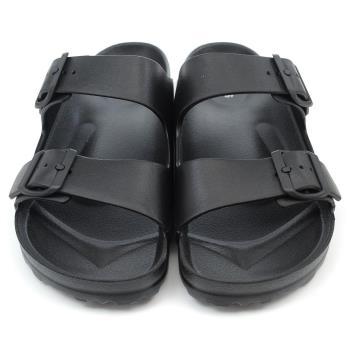 【cher美鞋】MIT大尺碼超輕量防水休閒拖鞋♥黑色♥8802-03