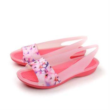 Crocs 涼鞋 粉 女鞋 no379