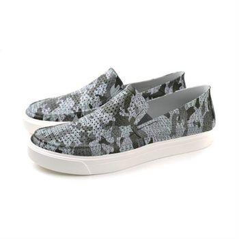 Crocs 休閒鞋 白灰色 男鞋 no376