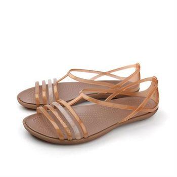 Crocs 涼鞋 淺咖 女鞋 no375