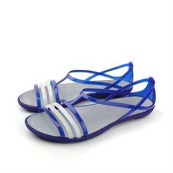 Crocs 涼鞋 藍 女鞋 no374