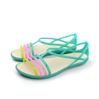 Crocs 涼鞋 綠色 女鞋 no373