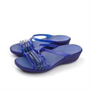 Crocs 拖鞋 藍 女鞋 no371
