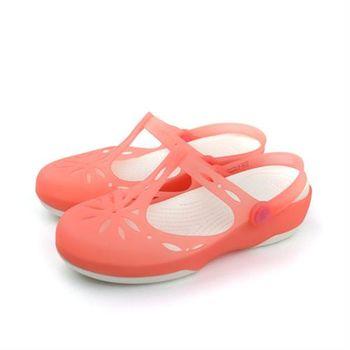 Crocs 涼鞋 粉 女鞋 no367