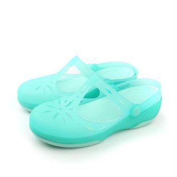 Crocs 涼鞋 藍綠色 女鞋 no366