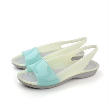 Crocs 涼鞋 水藍 女鞋 no363