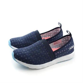 PONY 布鞋 深藍色 女鞋 no221