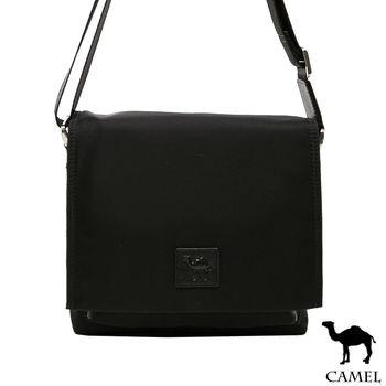 CAMEL - 倫敦品味十字紋防潑水牛皮小方側背包