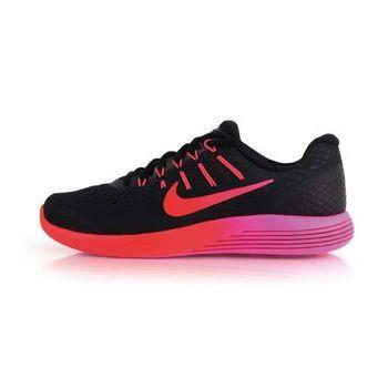 【NIKE】WMNS LUNARGLIDE 8 女慢跑鞋 - 路跑 訓練 健身 黑桃紅