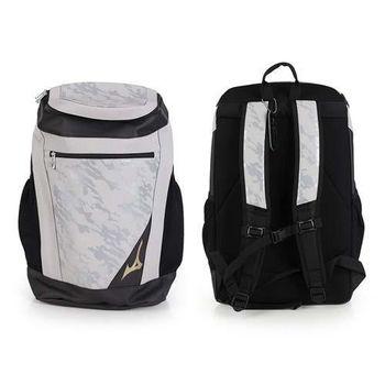【MIZUNO】GE 背包式個人裝備袋- 後背包 雙肩包 旅行包 美津濃 灰黑