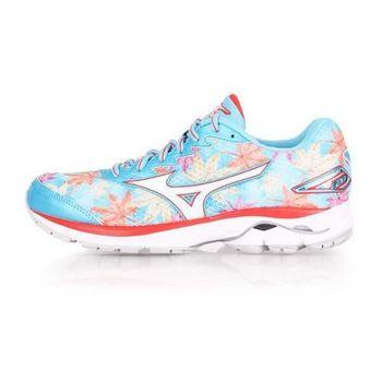 【MIZUNO】WAVE RIDER 20 FUJI -限量女慢跑鞋-美津濃 水藍白橘