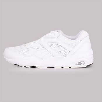 【PUMA】R698 CORE LEATHER 男休閒運動鞋- 慢跑 純白