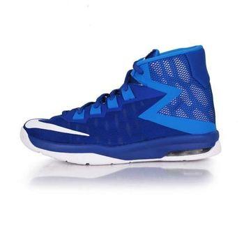 【NIKE】AIR DEVOSION -GS 女高筒籃球鞋 寶藍白