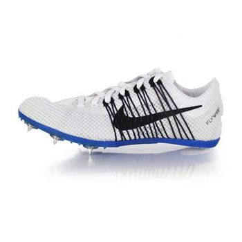【NIKE】ZOOM VICTORY 2 男女田徑釘鞋 - 中距離 白黑藍