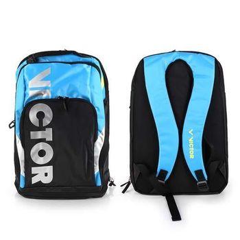 【VICTOR】後背包 -羽球包 雙肩包 登山 旅行包 勝利 黑水藍