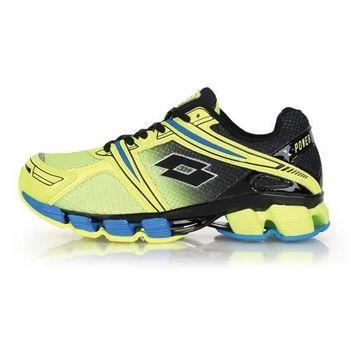 【LOTTO】男女大童避震跑鞋 -路跑 慢跑 黑螢光黃